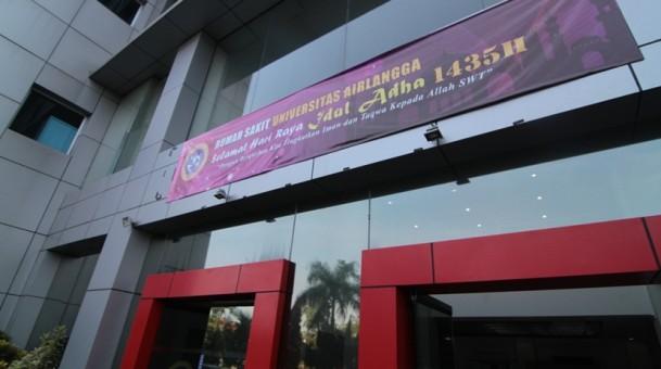 Dalam Memperingati Idul Adha 1435 Rumah Sakit Universitas Airlangga Turut Melaksanakan Qurban