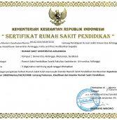 RS UNAIR mendapatkan pengakuan sebagai RS Pendidikan pertama di antara 24 RS PTN di Indonesia