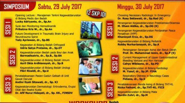 Materi Simposium Kegawatdaruratan 29-30 Juli 2017
