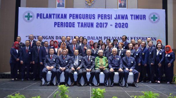 Pelantikan pengurus PERSI JATIM 2017-2020