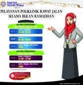 Pelayanan rawat jalan selama bulan Ramadhan