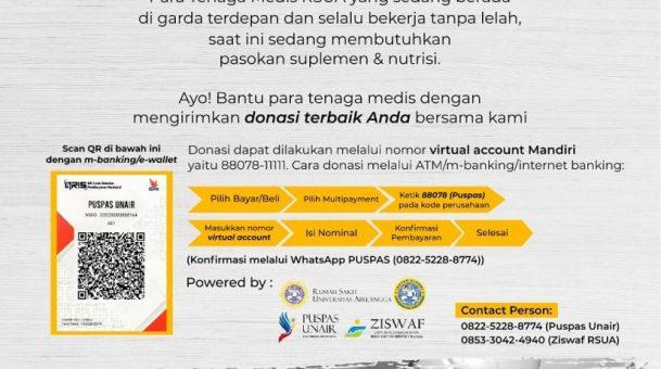 Ayo!Bantu para tenaga medis dengan mengirimkan donasi terbaik dari Anda bersama kami