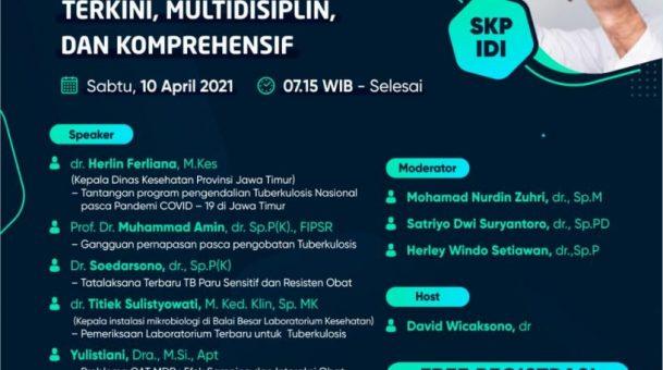 Free Webinar RSUA ber-SKP IDI dengan tema Manajemen Tuberkulosis 🩺